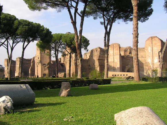 Rom sightseeing besøg terme di Caracalla