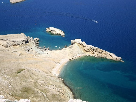 The beaches of Pag Paska Vrata