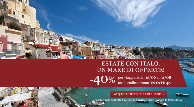 Offer for the summer ': Italian train tickets 40% discount