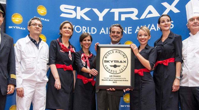 The world rankings of the best airlines: Skytrax World Airline Awards 2015