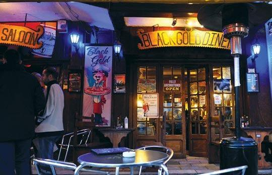 Malta nightlife Black Gold Saloon Sliema
