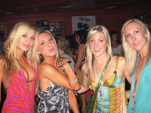 St Julians Malta nightlife Paceville blonde girls