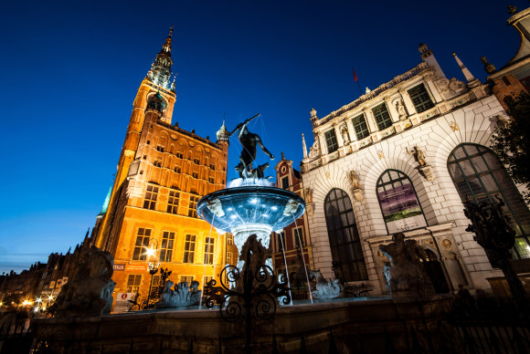 What to see in Gdansk to visit Neptune fountain