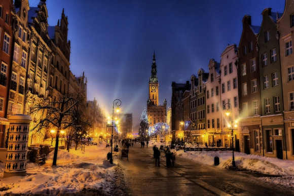 What to see in Gdansk to visit night lights