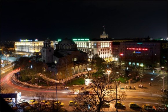 Sofia nightlife by night