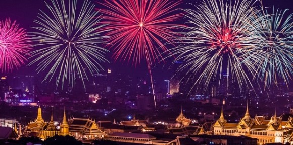 The best cities where celebrating new year Bangkok