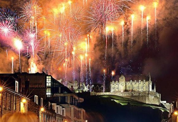 The best cities where celebrating new year Edinburgh