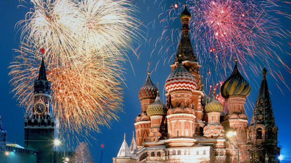 The best cities where new year's Eve Moscow