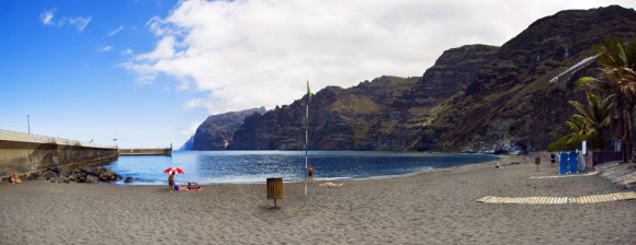Tenerife finest beaches Playa de Los Guios together