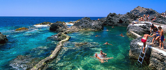 Tenerife finest beaches natural swimming pools in Garachico El Caleton