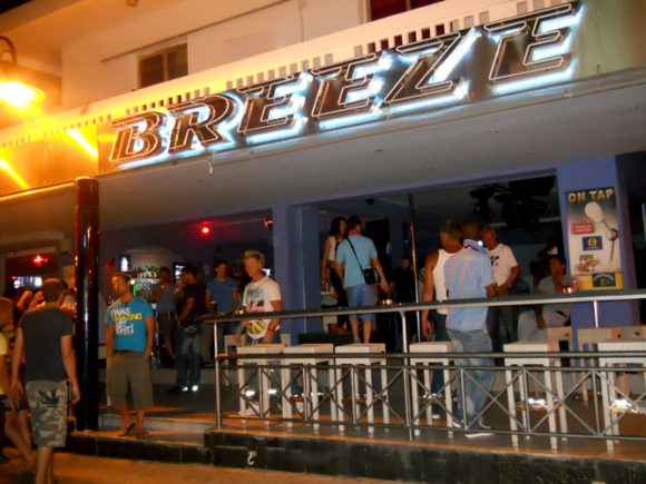 Rhodes Faliraki nightlife Breeze Bar