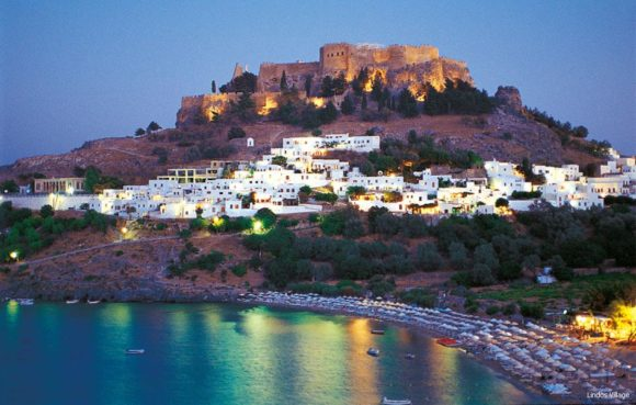 nightlife Rhodes Lindos Bay