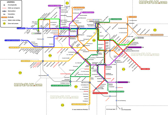 How to get to Amsterdam Airport Amsterdam tram map transport links