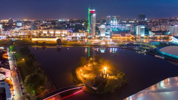 Minsk nightlife by night