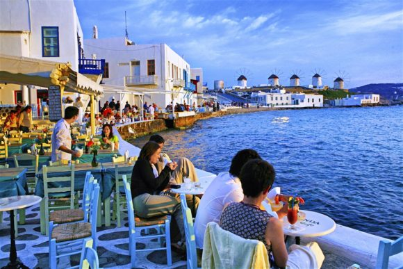night life of Mykonos Little Venice