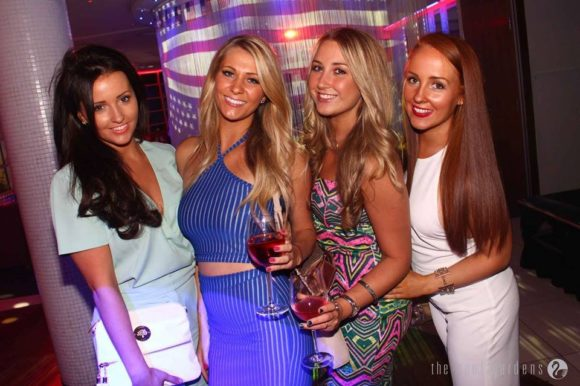 Nightlife London Kensington Roof Gardens girls