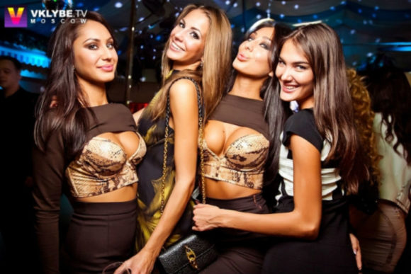 Nightlife Moscow beautiful girls