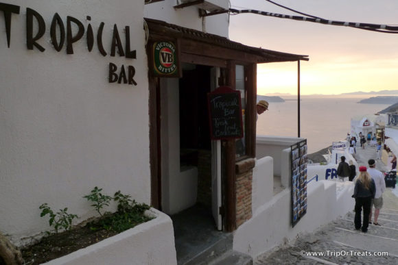 Nightlife Santorini Tropical Bar Thira