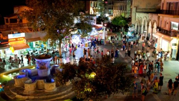 Nightlife Crete Heraklion night