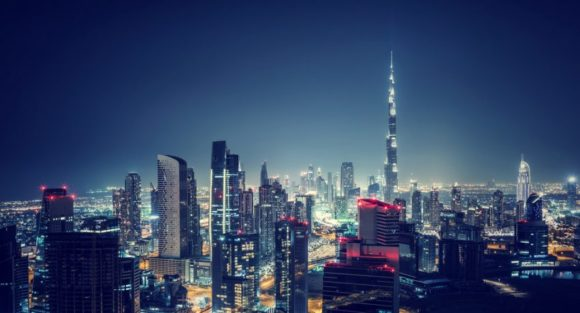 Dubai skyline Night Life