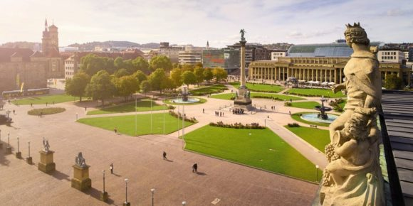 What to see what to visit Schlossplatz in Stuttgart