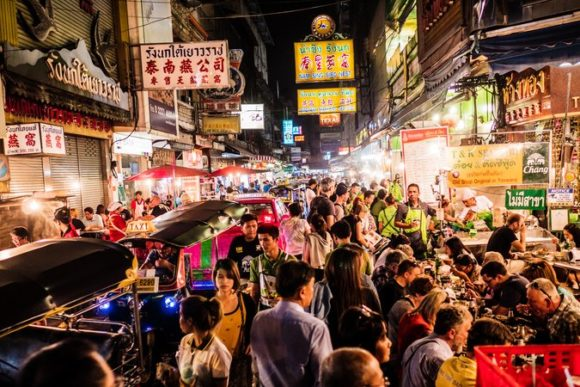 Nightlife Bangkok's Khao San Road