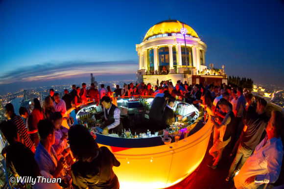 Nightlife Bangkok Sirocco Sky Bar Lebua Tower