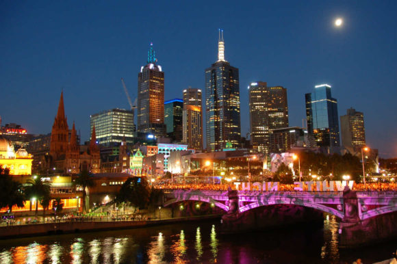 Natteliv Melbourne by night