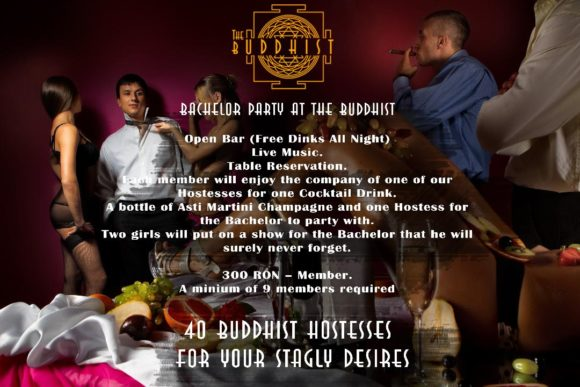 Bucharest evenings and events Buddhist Club Bachelor Party