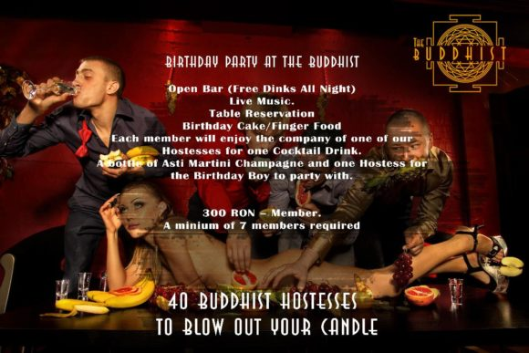 Bucharest evenings and events Buddhist Club birthday party